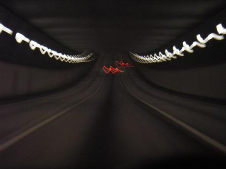 ...på väg hem genom tunneln...